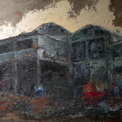 "Isotta Fraschini olio su tela ""spatola""  100x120"