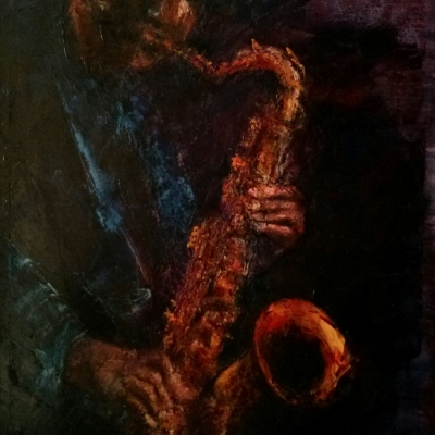 """Jazz olio su tela """"spatola""""  120x100"""